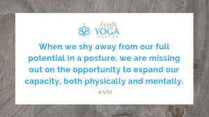When we shy away from our full potential