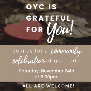 OYC is grateful for you